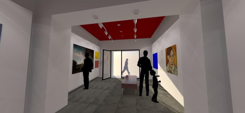 Progetto ristrutturazione galleria Fidia arte moderna