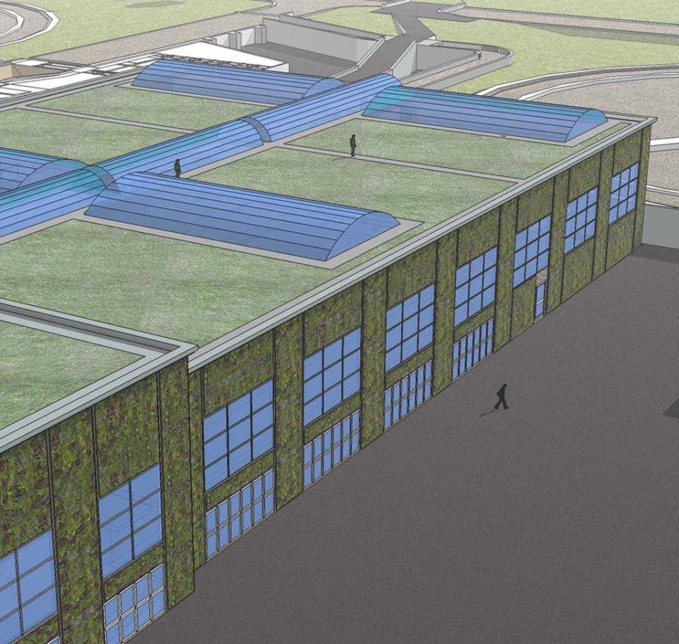 Impianto ACEA copertura verde
